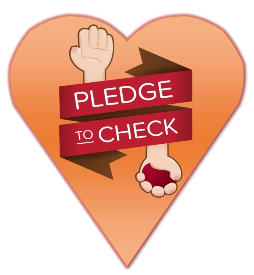 pledge to check